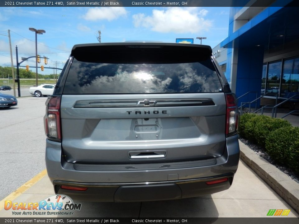 2021 Chevrolet Tahoe Z71 4WD Satin Steel Metallic / Jet Black Photo #5
