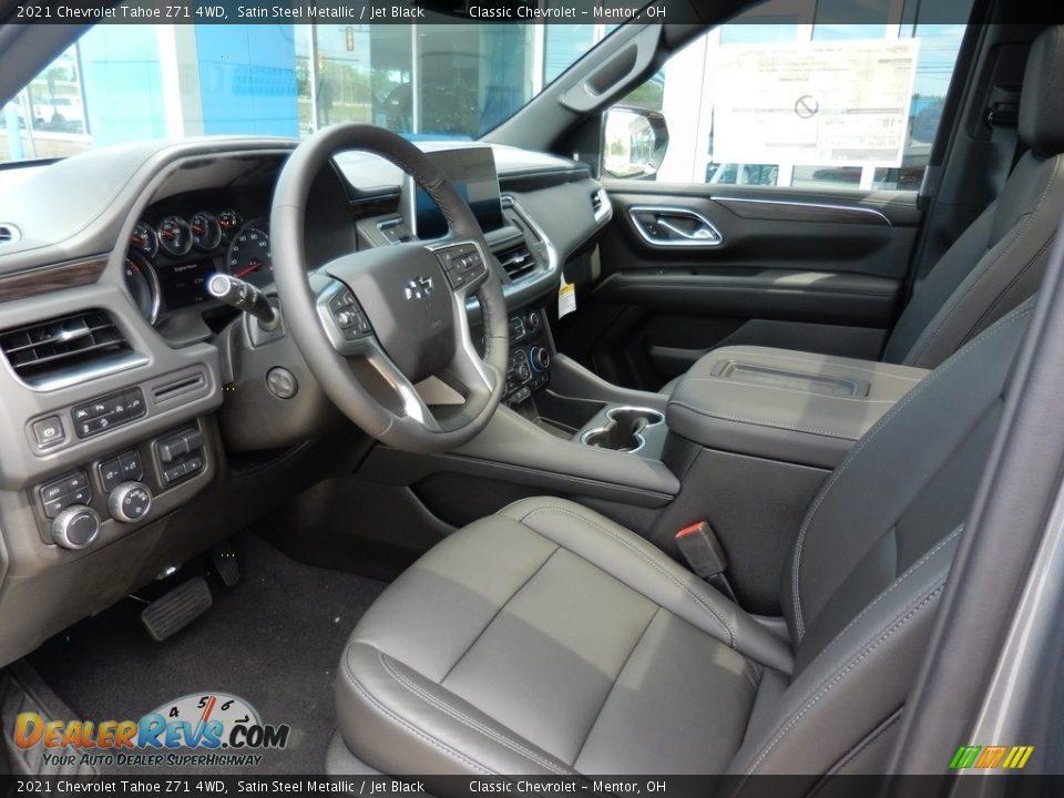 Jet Black Interior - 2021 Chevrolet Tahoe Z71 4WD Photo #7