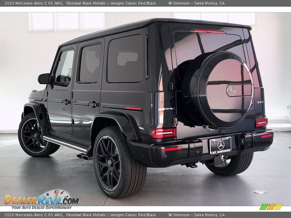 2020 Mercedes-Benz G 63 AMG Obsidian Black Metallic / designo Classic Red/Black Photo #2