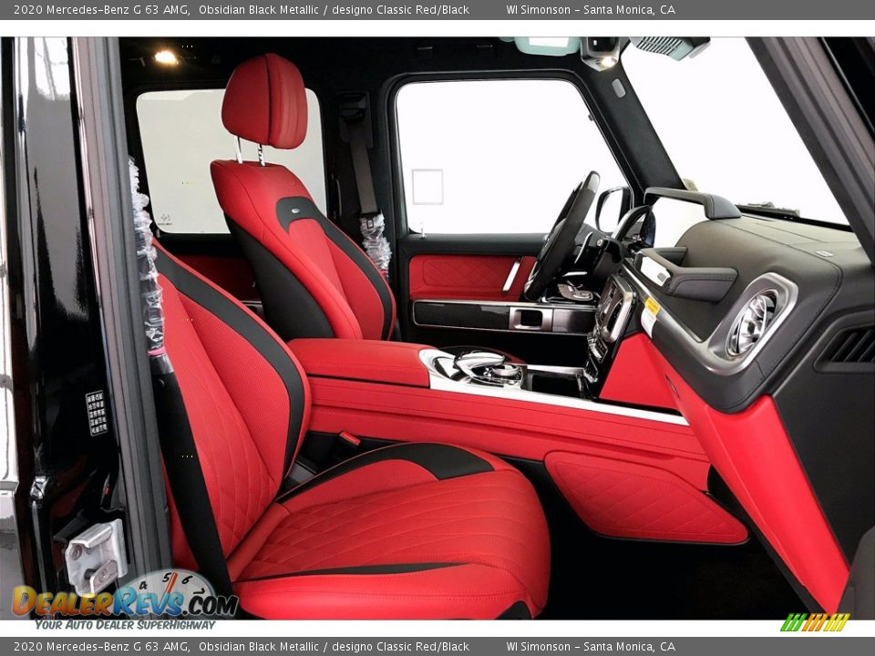 2020 Mercedes-Benz G 63 AMG Obsidian Black Metallic / designo Classic Red/Black Photo #5