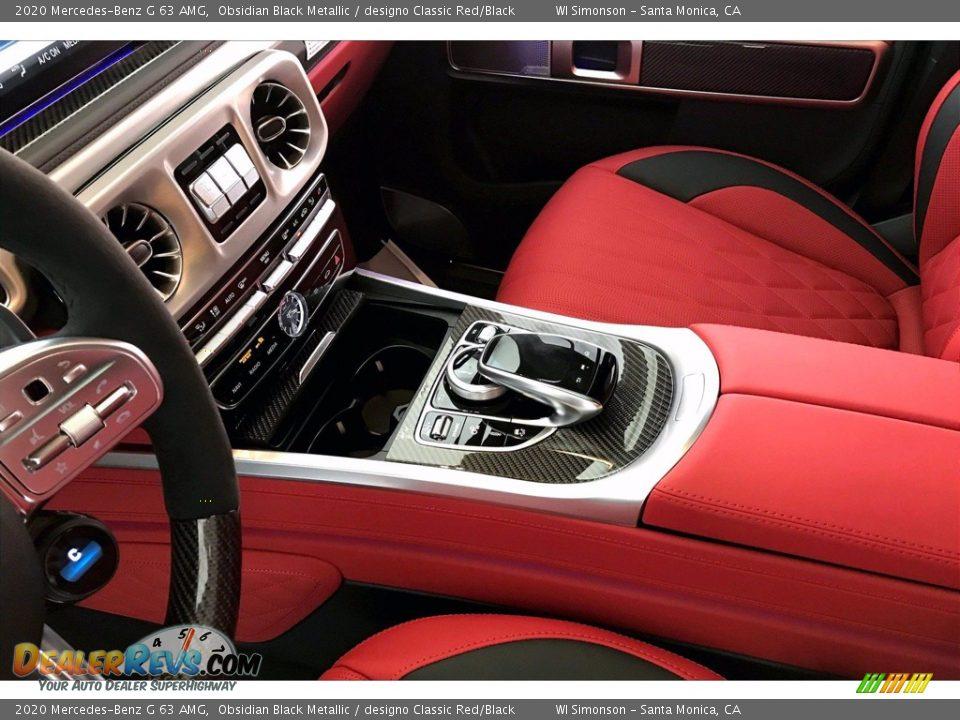 2020 Mercedes-Benz G 63 AMG Obsidian Black Metallic / designo Classic Red/Black Photo #7