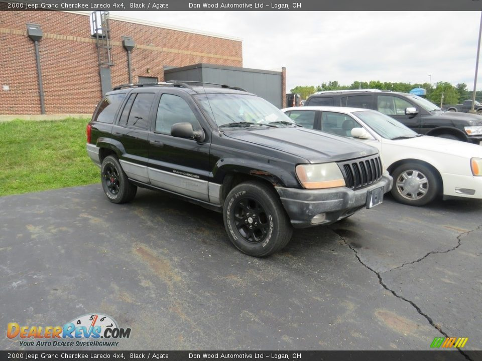 2000 Jeep Grand Cherokee Laredo 4x4 Black / Agate Photo #2