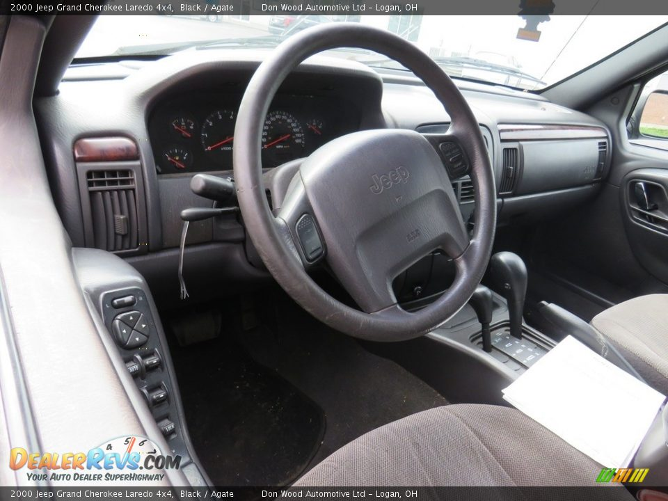 2000 Jeep Grand Cherokee Laredo 4x4 Black / Agate Photo #8