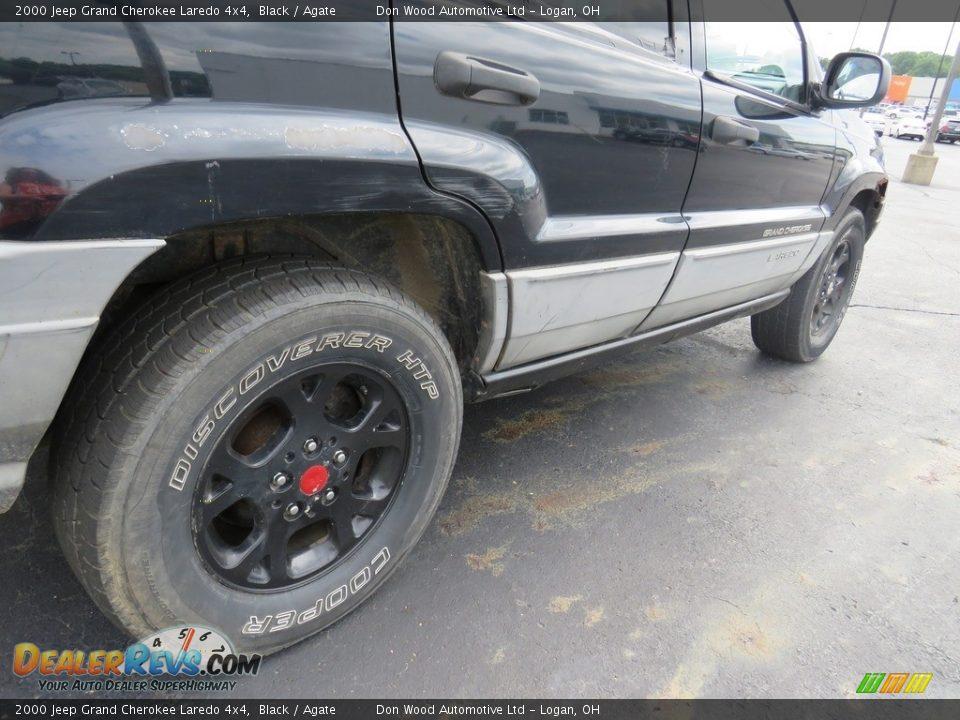 2000 Jeep Grand Cherokee Laredo 4x4 Black / Agate Photo #16