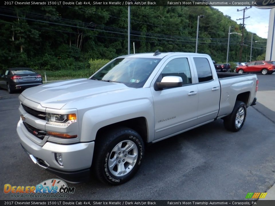 2017 Chevrolet Silverado 1500 LT Double Cab 4x4 Silver Ice Metallic / Dark Ash/Jet Black Photo #6
