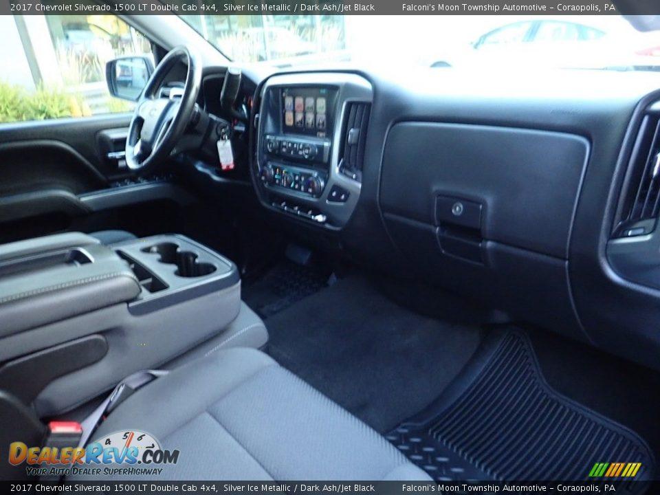 2017 Chevrolet Silverado 1500 LT Double Cab 4x4 Silver Ice Metallic / Dark Ash/Jet Black Photo #11