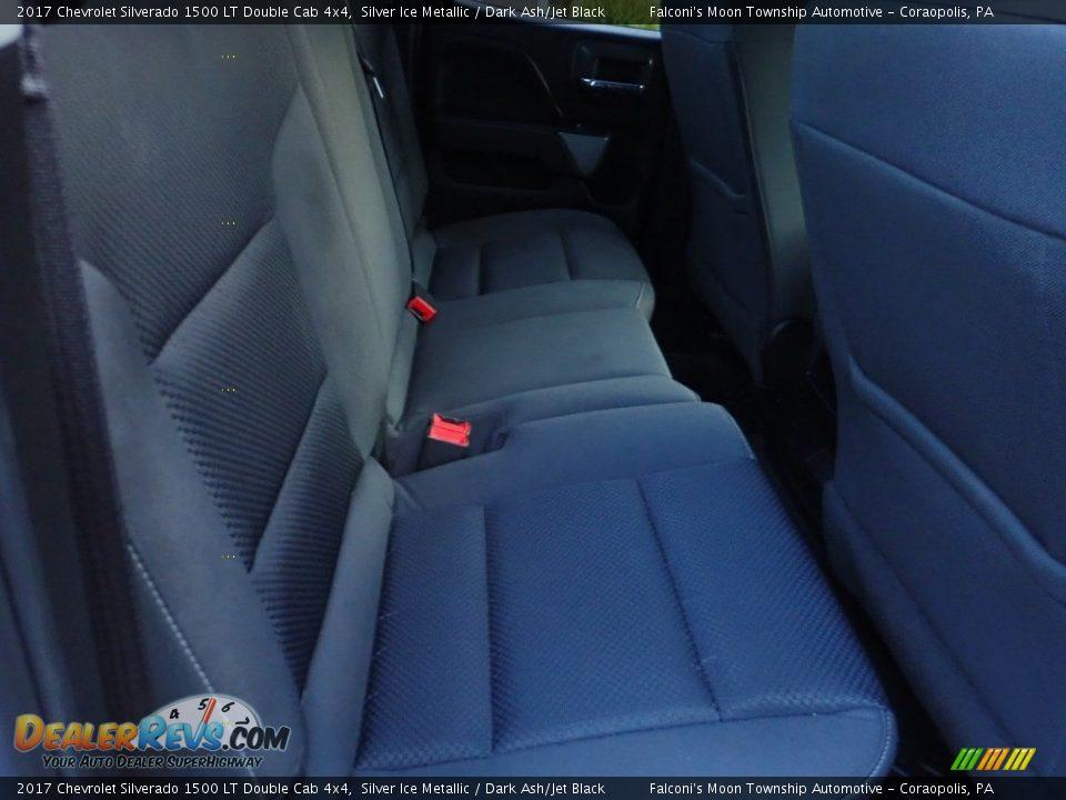 2017 Chevrolet Silverado 1500 LT Double Cab 4x4 Silver Ice Metallic / Dark Ash/Jet Black Photo #13