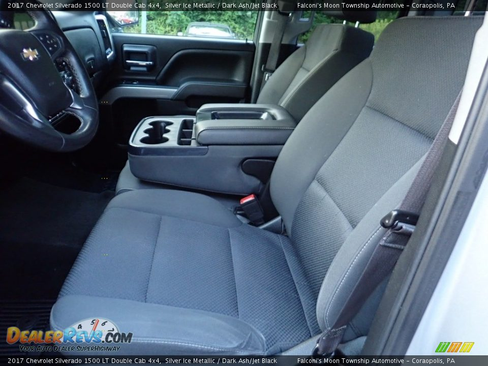 2017 Chevrolet Silverado 1500 LT Double Cab 4x4 Silver Ice Metallic / Dark Ash/Jet Black Photo #16
