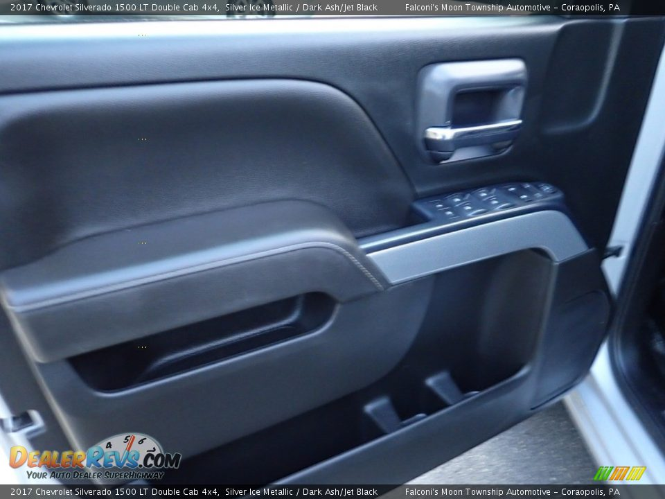2017 Chevrolet Silverado 1500 LT Double Cab 4x4 Silver Ice Metallic / Dark Ash/Jet Black Photo #19
