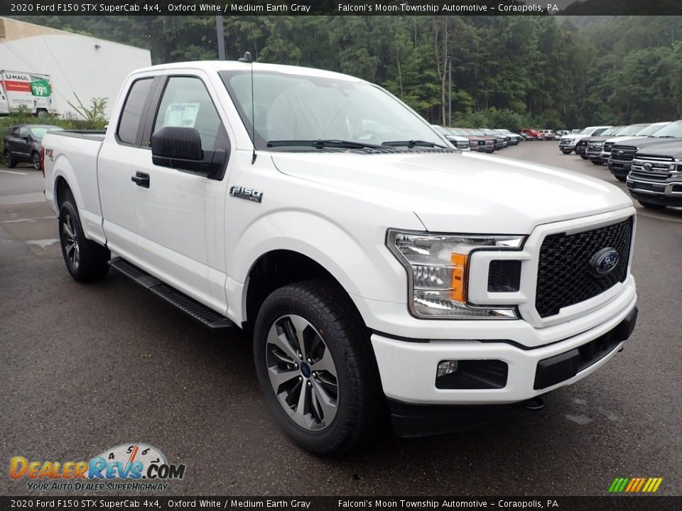 2020 Ford F150 STX SuperCab 4x4 Oxford White / Medium Earth Gray Photo #2