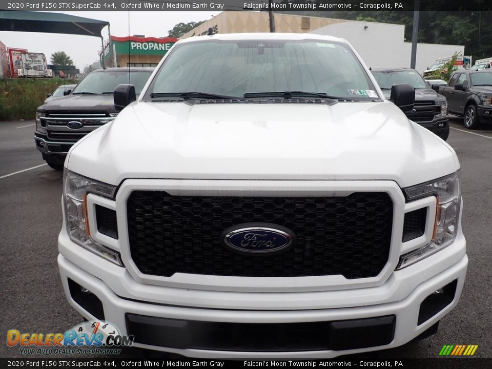 2020 Ford F150 STX SuperCab 4x4 Oxford White / Medium Earth Gray Photo #3