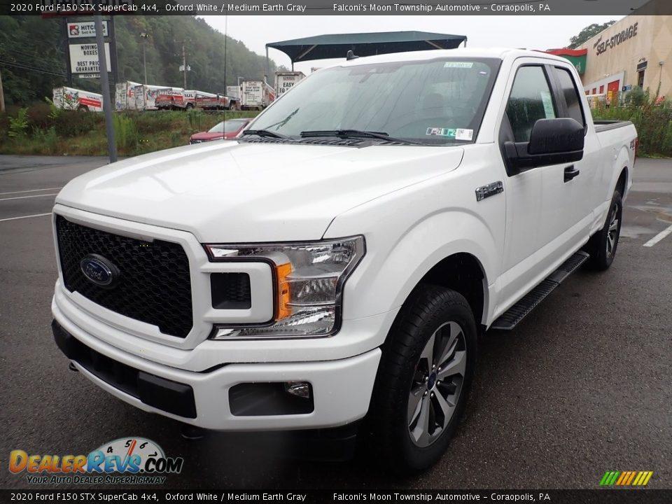 2020 Ford F150 STX SuperCab 4x4 Oxford White / Medium Earth Gray Photo #4