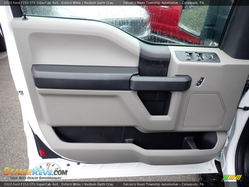 2020 Ford F150 STX SuperCab 4x4 Oxford White / Medium Earth Gray Photo #9