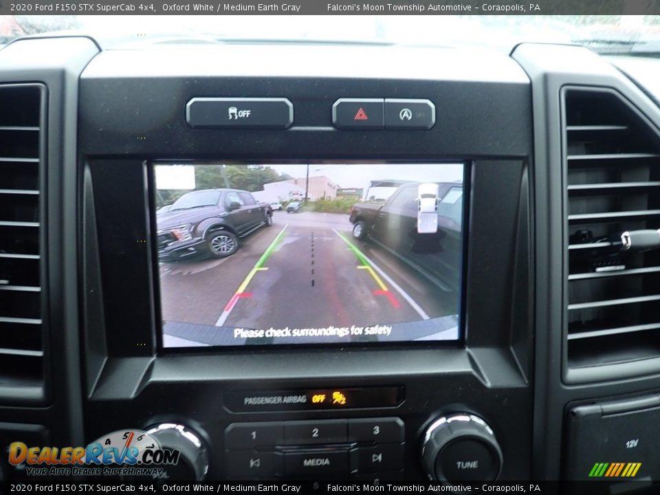 2020 Ford F150 STX SuperCab 4x4 Oxford White / Medium Earth Gray Photo #15
