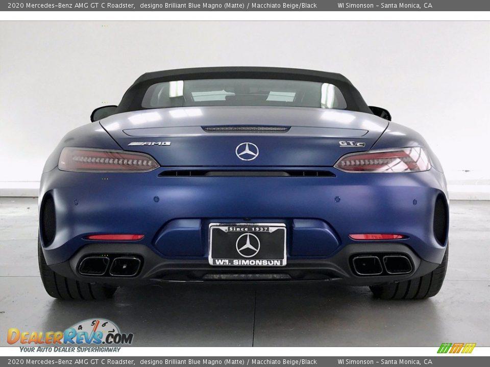 2020 Mercedes-Benz AMG GT C Roadster designo Brilliant Blue Magno (Matte) / Macchiato Beige/Black Photo #3