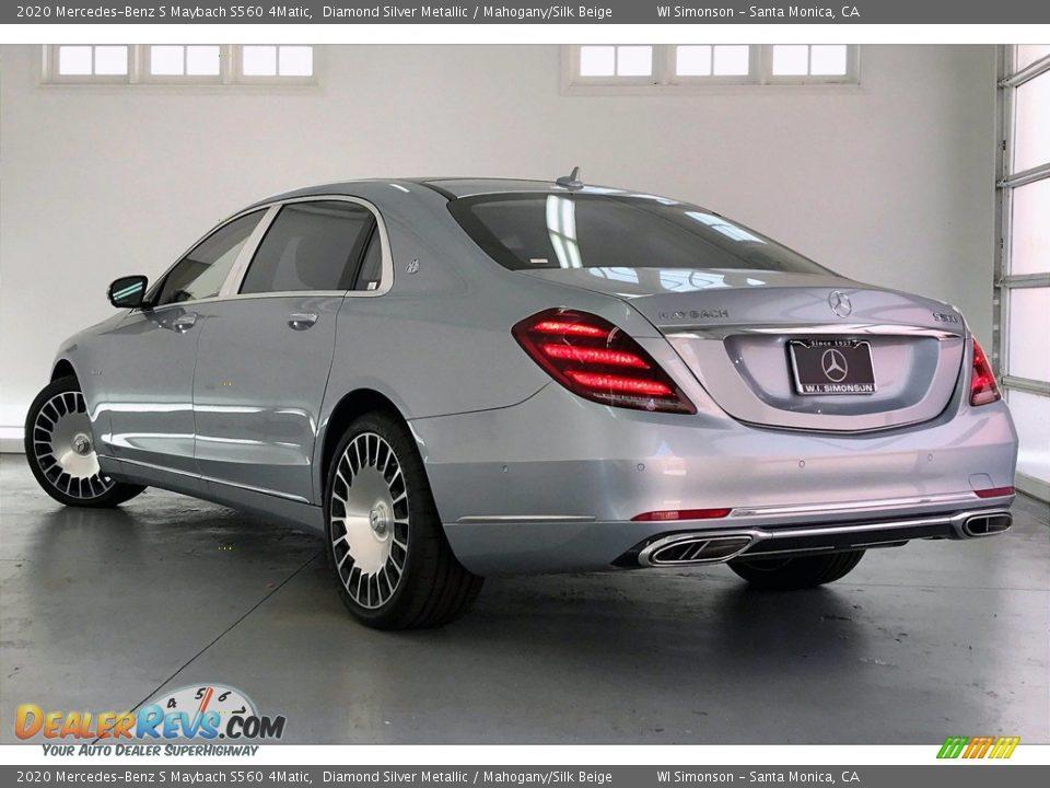 2020 Mercedes-Benz S Maybach S560 4Matic Diamond Silver Metallic / Mahogany/Silk Beige Photo #2