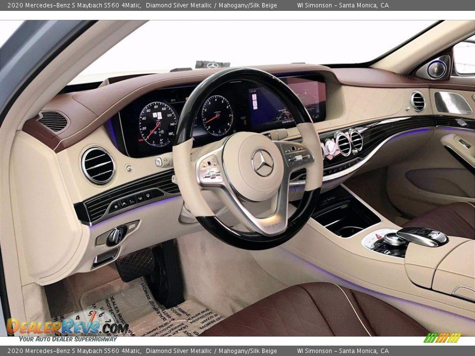 Mahogany/Silk Beige Interior - 2020 Mercedes-Benz S Maybach S560 4Matic Photo #4