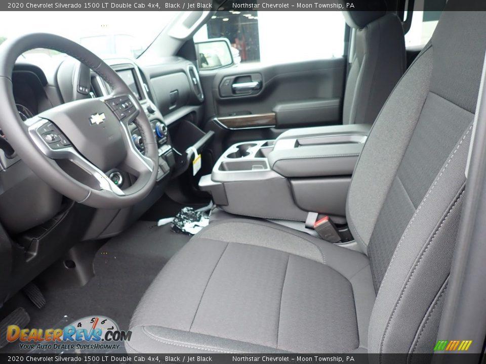 2020 Chevrolet Silverado 1500 LT Double Cab 4x4 Black / Jet Black Photo #13