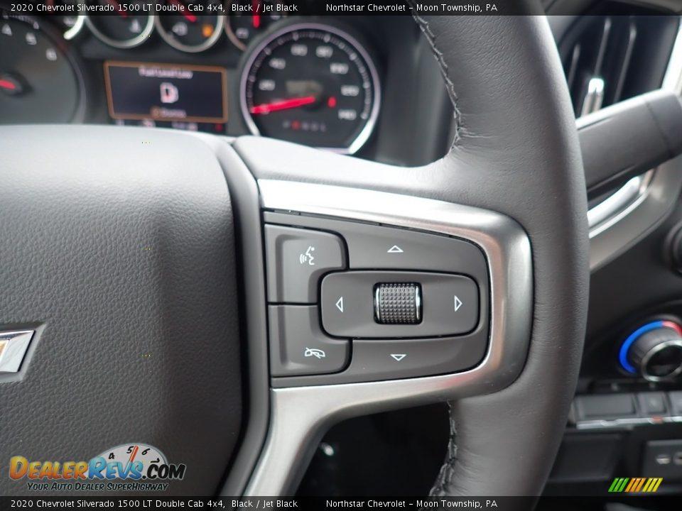2020 Chevrolet Silverado 1500 LT Double Cab 4x4 Black / Jet Black Photo #19