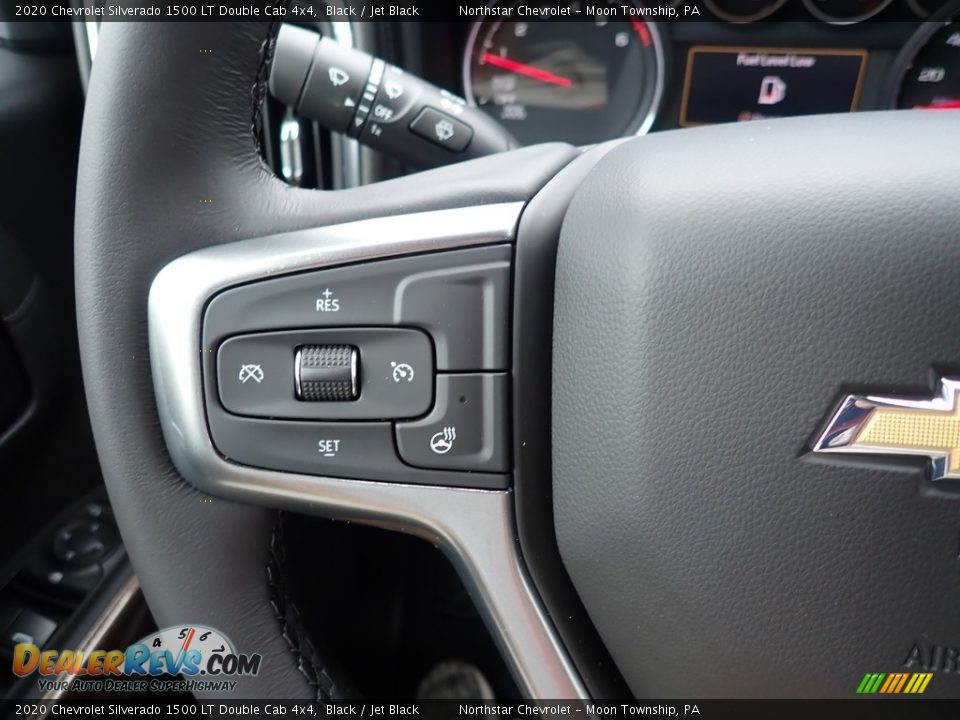 2020 Chevrolet Silverado 1500 LT Double Cab 4x4 Black / Jet Black Photo #20