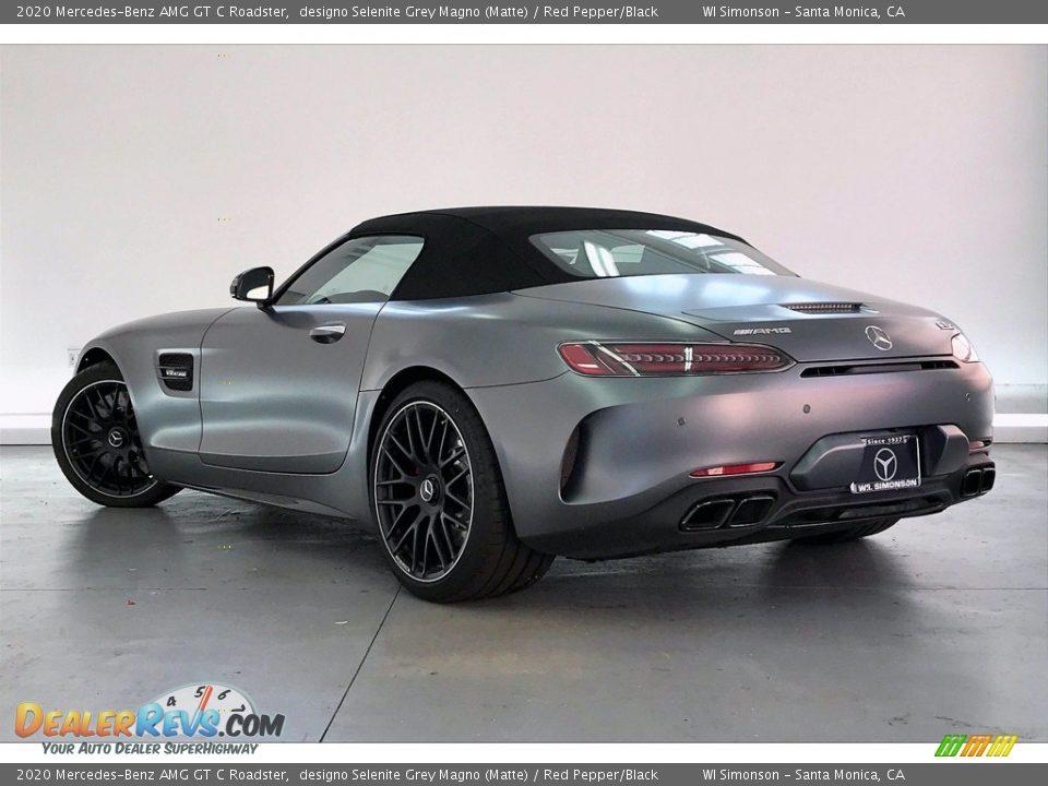 2020 Mercedes-Benz AMG GT C Roadster designo Selenite Grey Magno (Matte) / Red Pepper/Black Photo #2