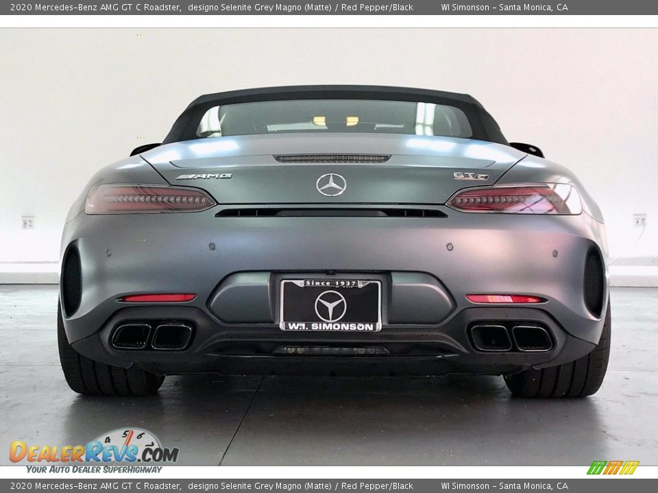 2020 Mercedes-Benz AMG GT C Roadster designo Selenite Grey Magno (Matte) / Red Pepper/Black Photo #3