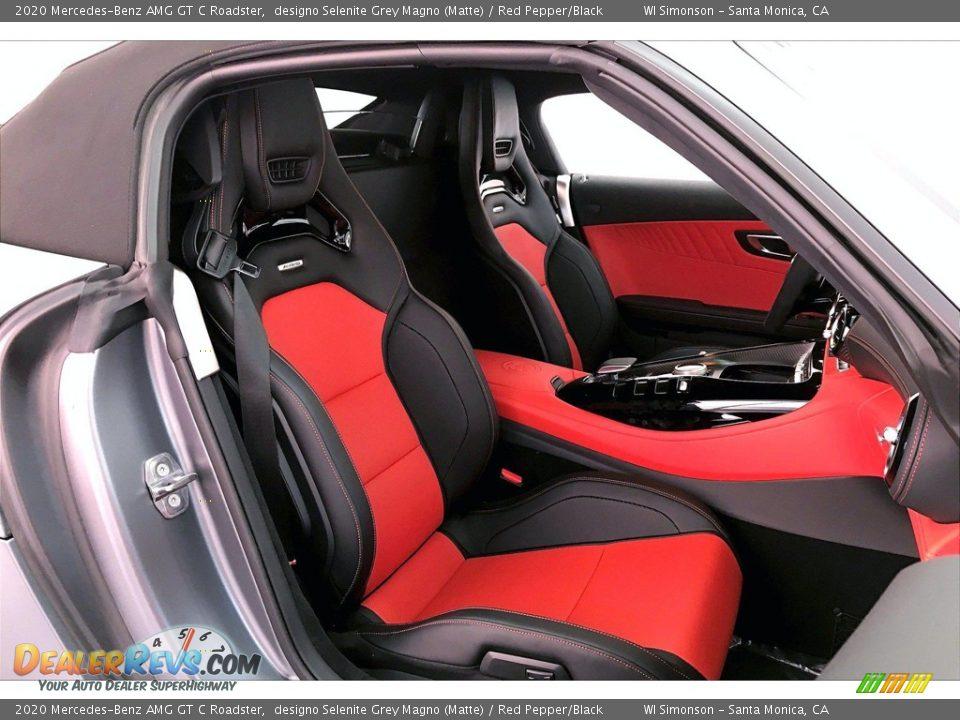 Red Pepper/Black Interior - 2020 Mercedes-Benz AMG GT C Roadster Photo #5