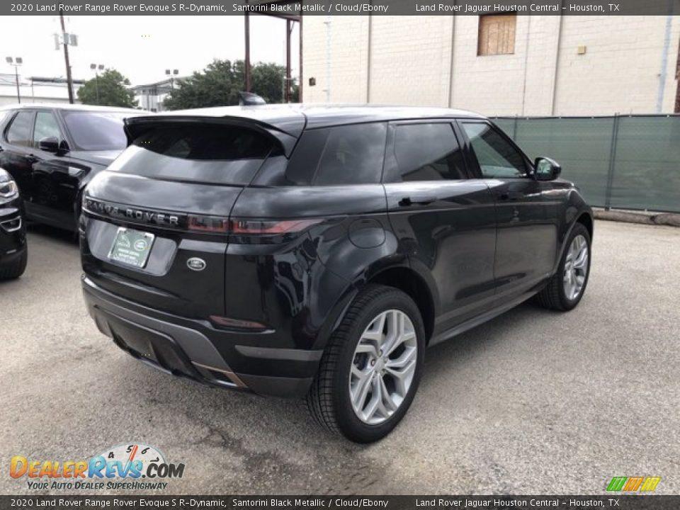 2020 Land Rover Range Rover Evoque S R-Dynamic Santorini Black Metallic / Cloud/Ebony Photo #3