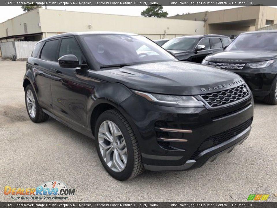 2020 Land Rover Range Rover Evoque S R-Dynamic Santorini Black Metallic / Cloud/Ebony Photo #12