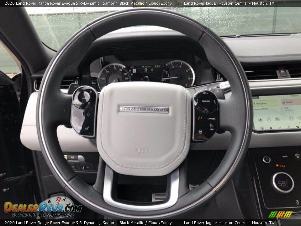 2020 Land Rover Range Rover Evoque S R-Dynamic Santorini Black Metallic / Cloud/Ebony Photo #17
