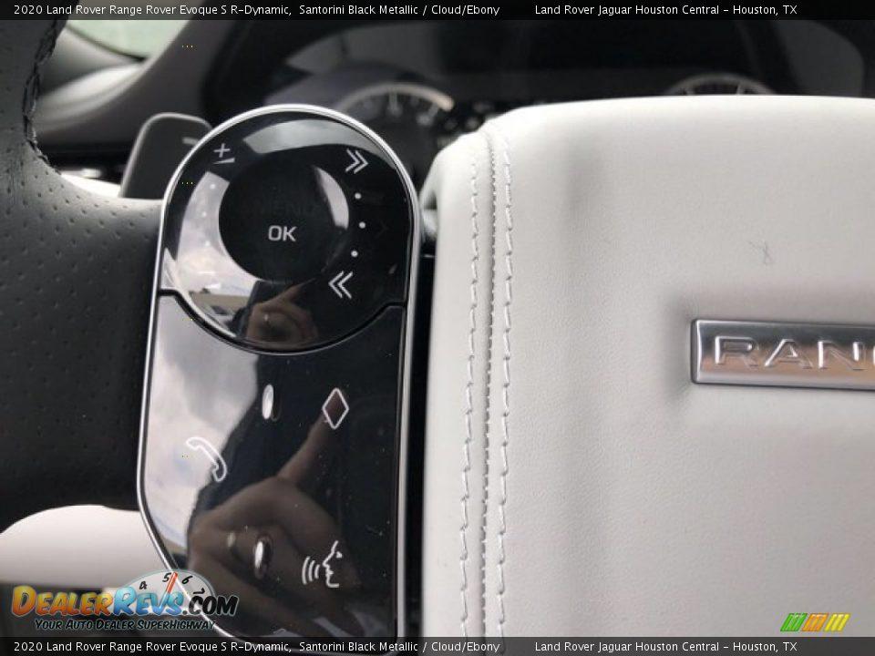 2020 Land Rover Range Rover Evoque S R-Dynamic Santorini Black Metallic / Cloud/Ebony Photo #19