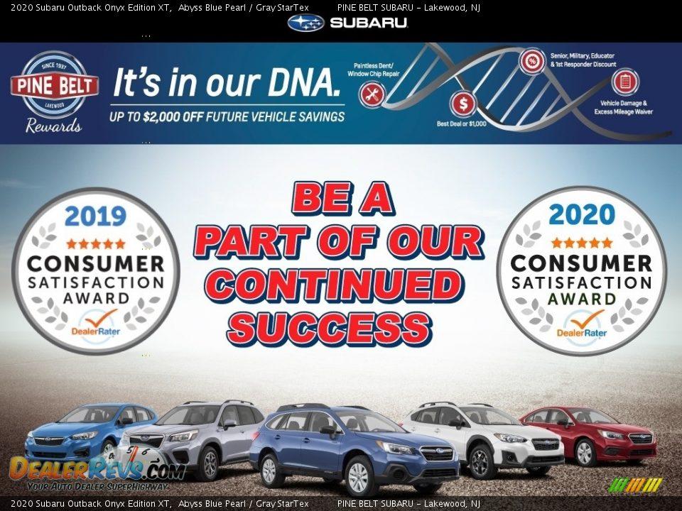 Dealer Info of 2020 Subaru Outback Onyx Edition XT Photo #5