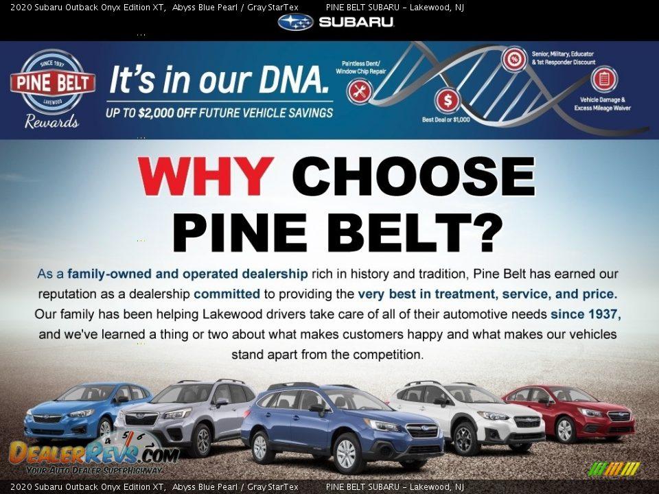 Dealer Info of 2020 Subaru Outback Onyx Edition XT Photo #11