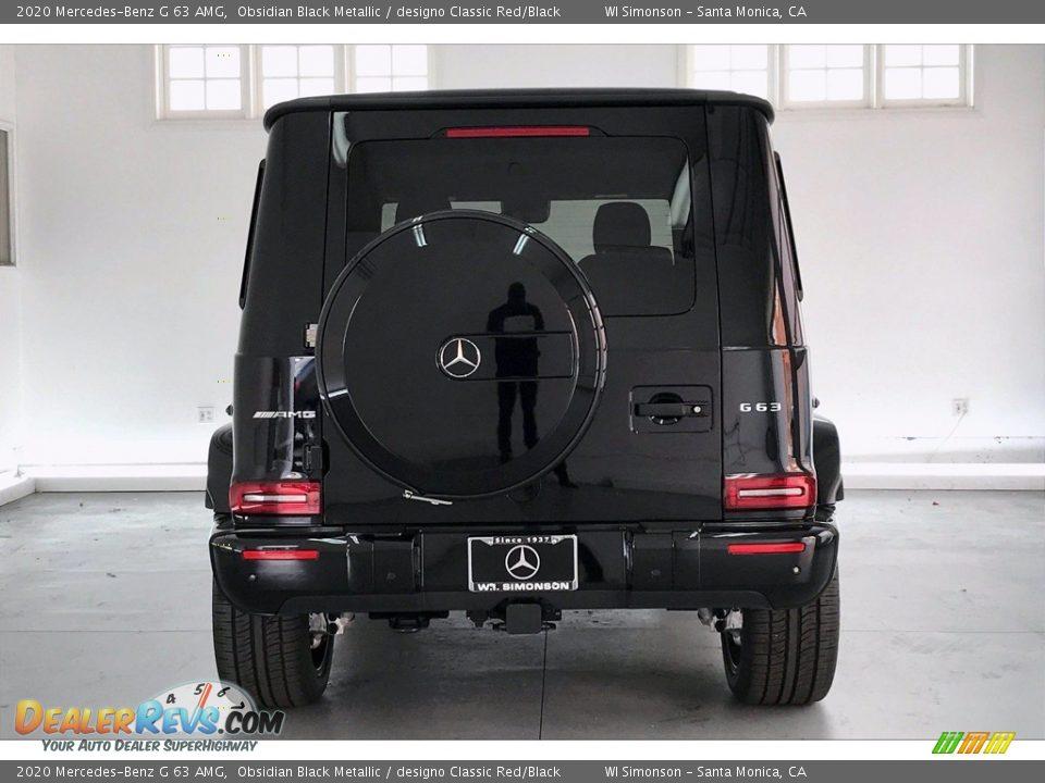 2020 Mercedes-Benz G 63 AMG Obsidian Black Metallic / designo Classic Red/Black Photo #3