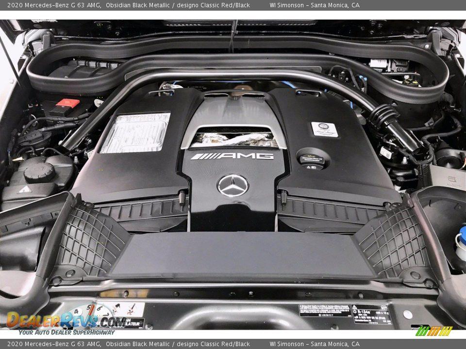 2020 Mercedes-Benz G 63 AMG Obsidian Black Metallic / designo Classic Red/Black Photo #8
