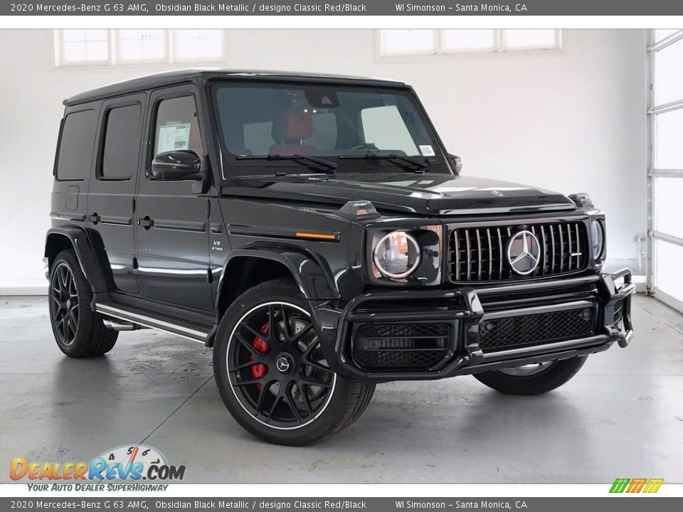 2020 Mercedes-Benz G 63 AMG Obsidian Black Metallic / designo Classic Red/Black Photo #12