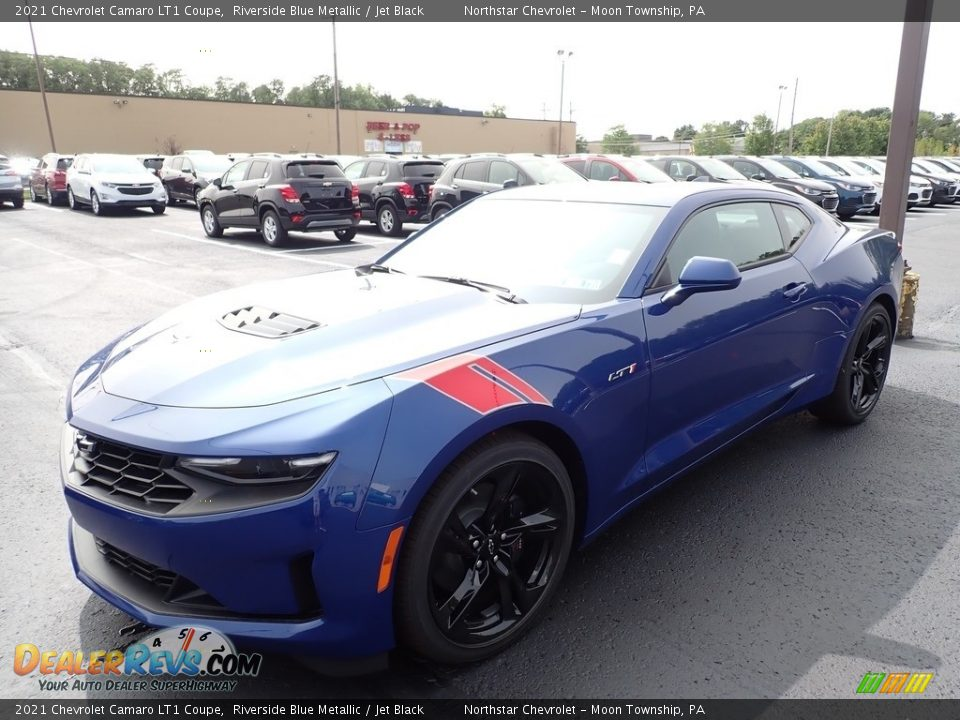 Riverside Blue Metallic 2021 Chevrolet Camaro LT1 Coupe Photo #1
