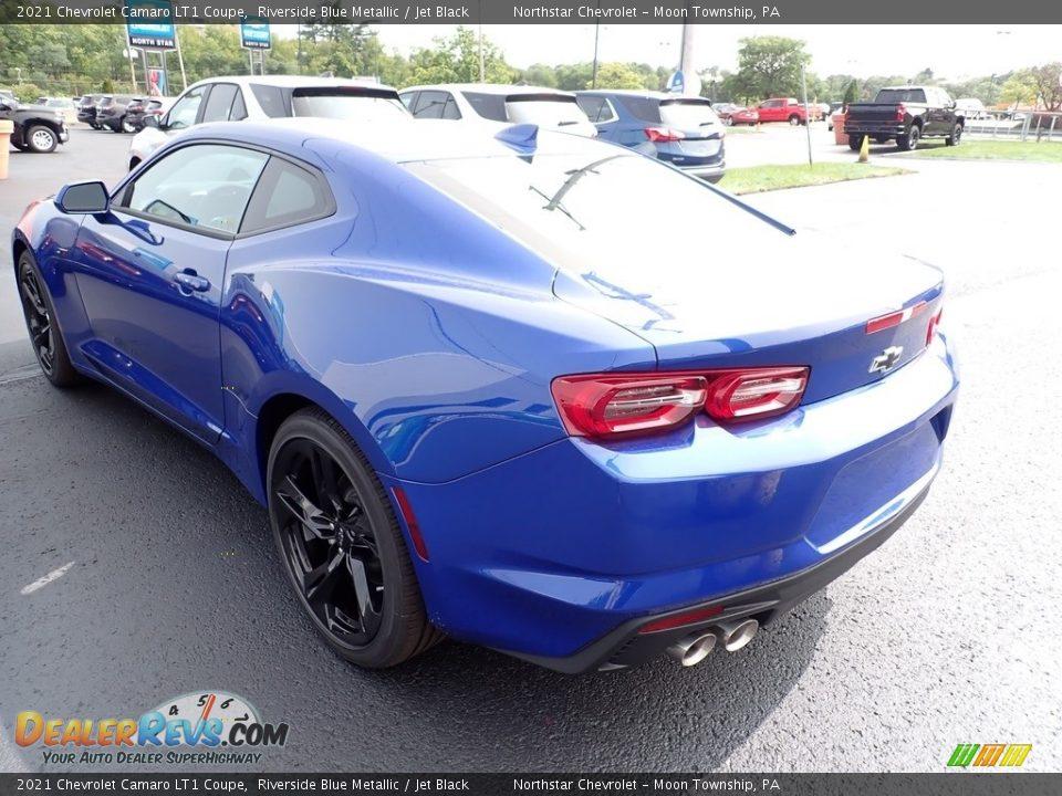 2021 Chevrolet Camaro LT1 Coupe Riverside Blue Metallic / Jet Black Photo #4
