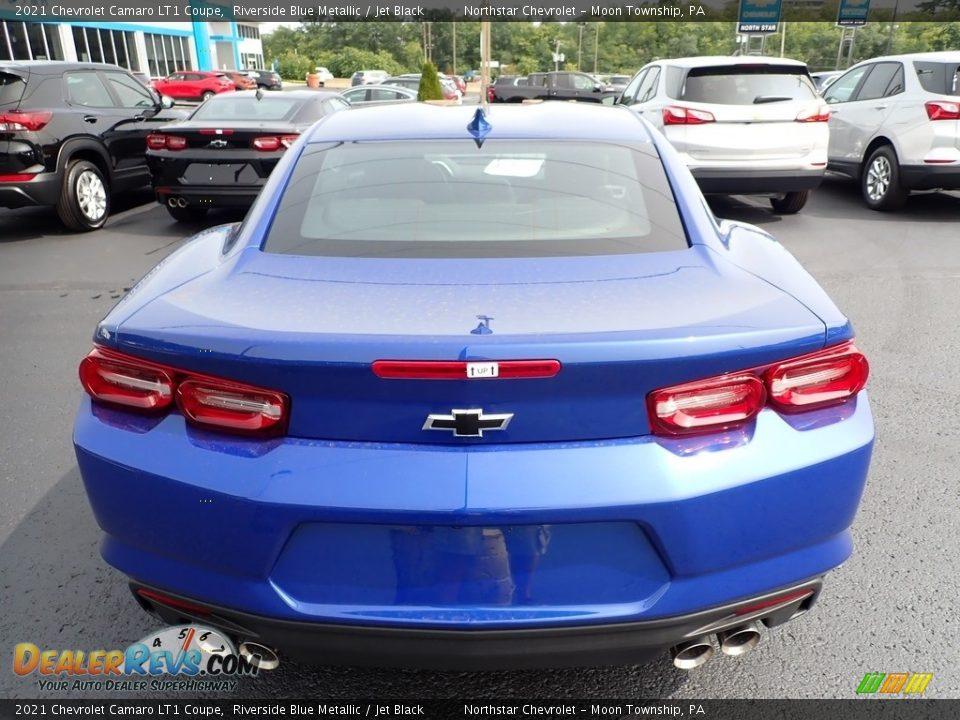 2021 Chevrolet Camaro LT1 Coupe Riverside Blue Metallic / Jet Black Photo #5