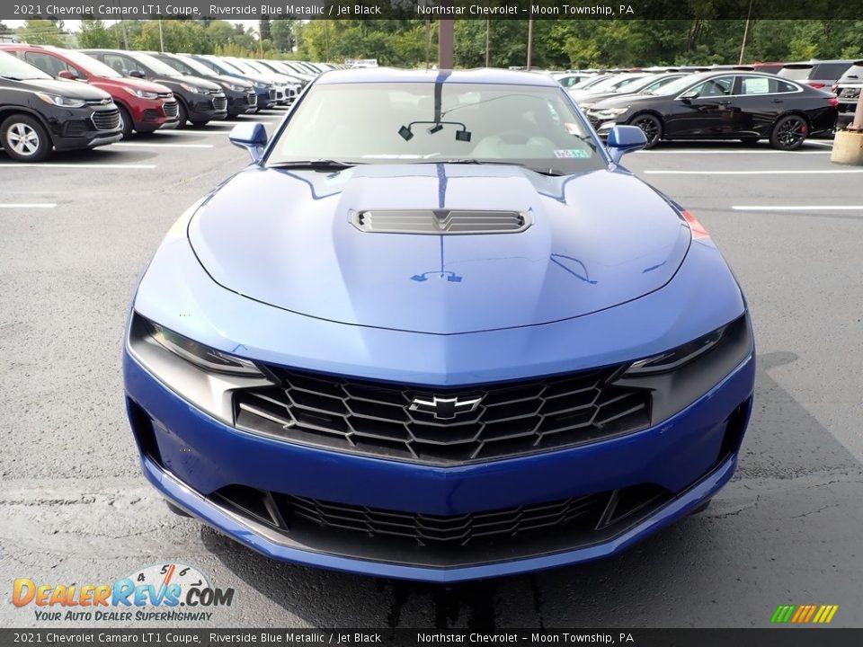 Riverside Blue Metallic 2021 Chevrolet Camaro LT1 Coupe Photo #8