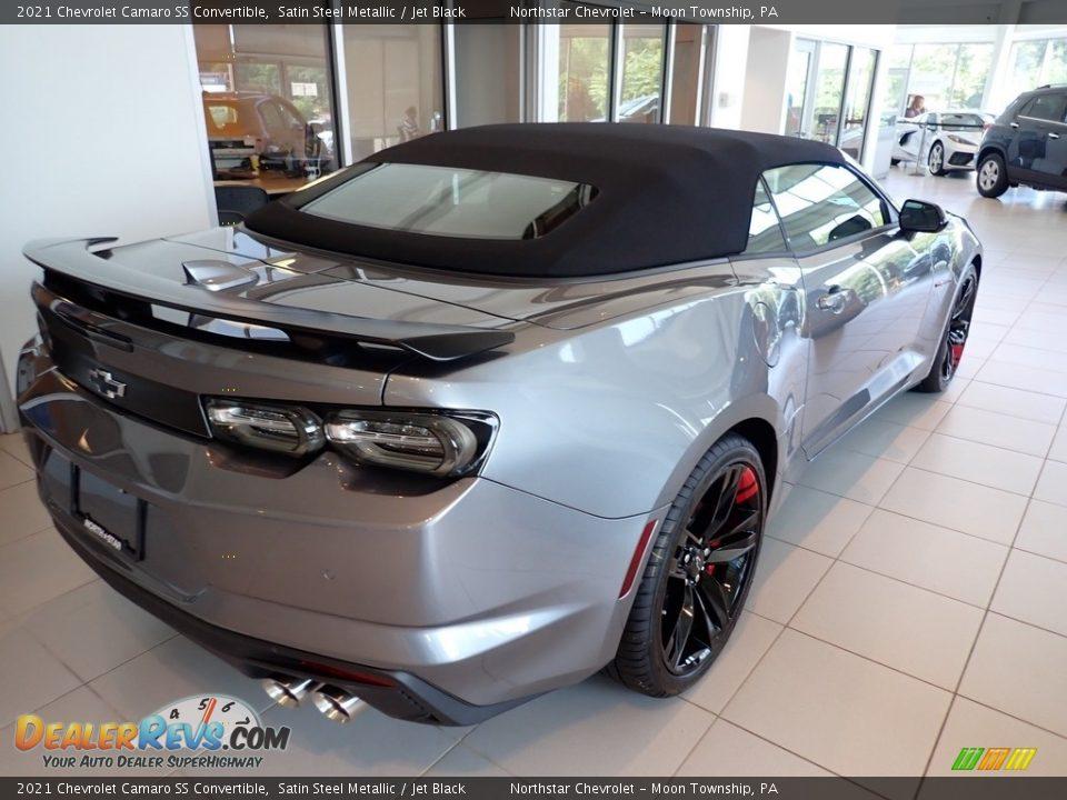 2021 Chevrolet Camaro SS Convertible Satin Steel Metallic / Jet Black Photo #5