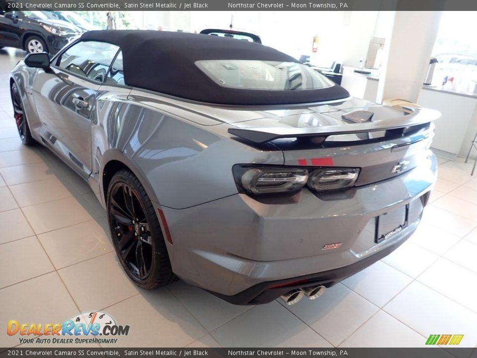 2021 Chevrolet Camaro SS Convertible Satin Steel Metallic / Jet Black Photo #7