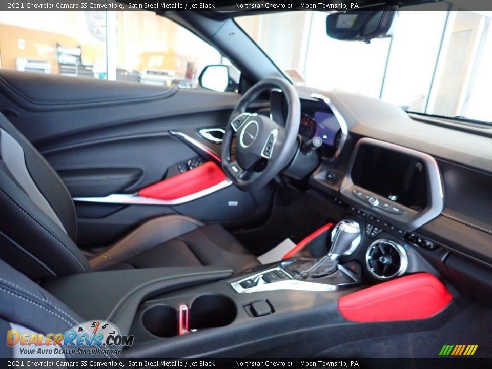 2021 Chevrolet Camaro SS Convertible Satin Steel Metallic / Jet Black Photo #11