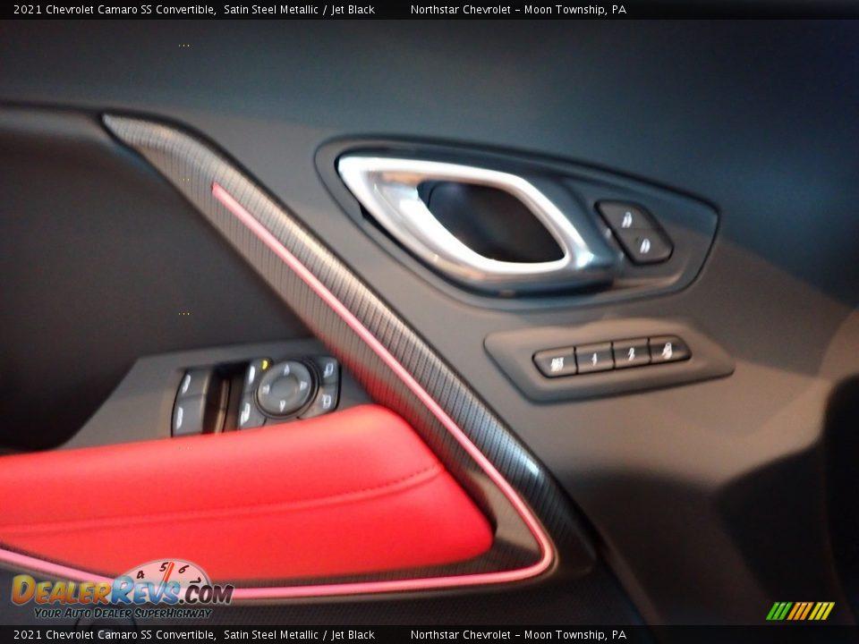 2021 Chevrolet Camaro SS Convertible Satin Steel Metallic / Jet Black Photo #19