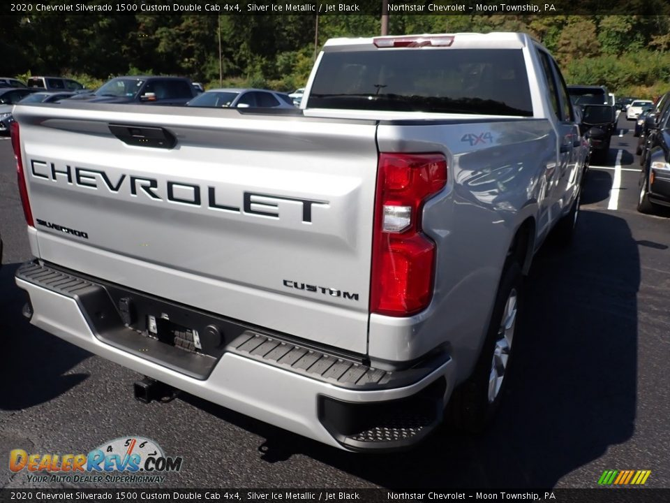 2020 Chevrolet Silverado 1500 Custom Double Cab 4x4 Silver Ice Metallic / Jet Black Photo #5