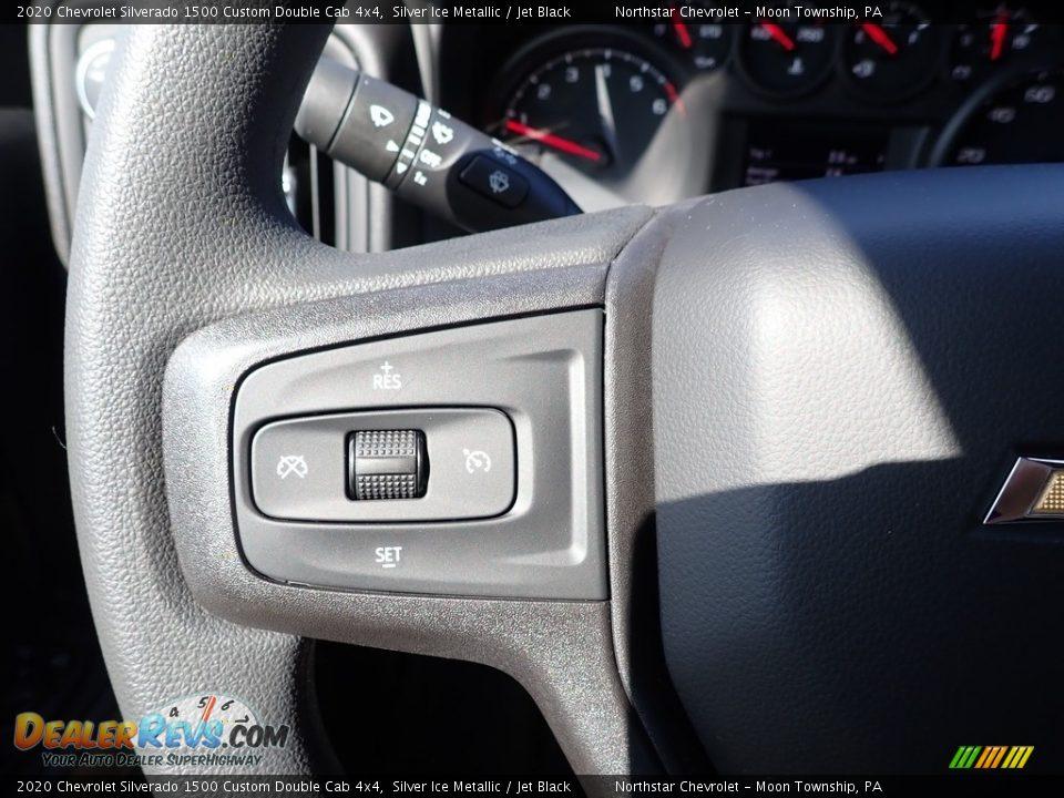 2020 Chevrolet Silverado 1500 Custom Double Cab 4x4 Silver Ice Metallic / Jet Black Photo #17