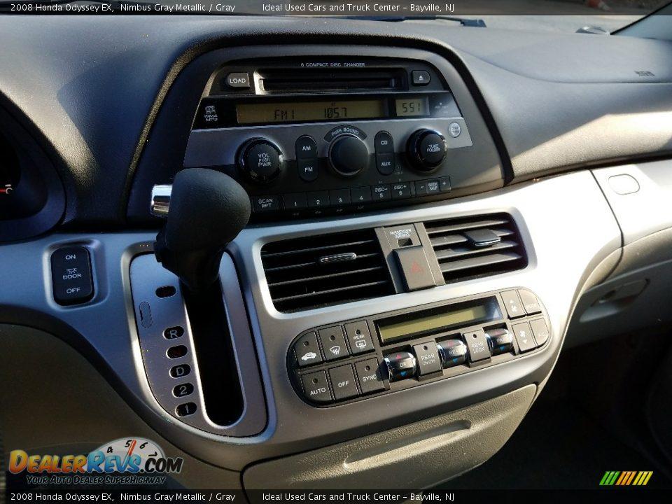 2008 Honda Odyssey EX Nimbus Gray Metallic / Gray Photo #6