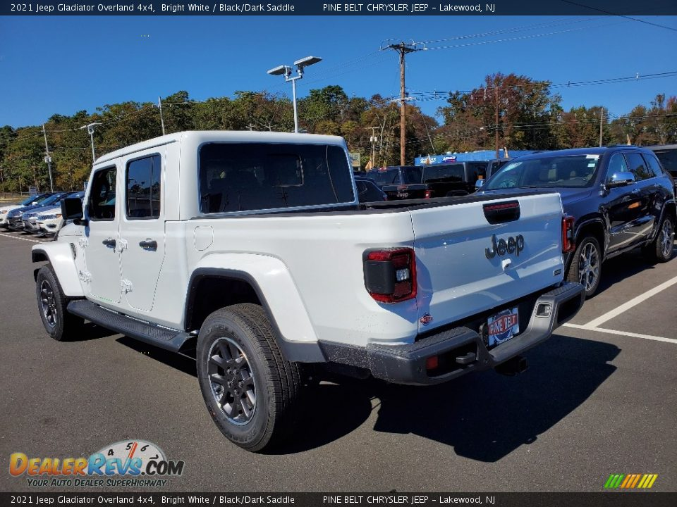 2021 Jeep Gladiator Overland 4x4 Bright White / Black/Dark Saddle Photo #6