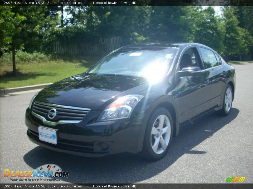 2007 Nissan Altima 3.5 SE Super Black / Charcoal Photo #7 | DealerRevs ...