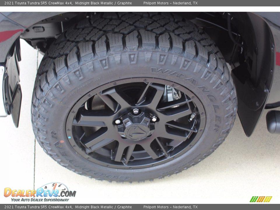 2021 Toyota Tundra SR5 CrewMax 4x4 Midnight Black Metallic / Graphite Photo #5